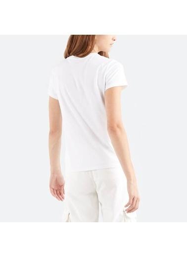 Levi's® 173691249 Bisiklet Yaka Pamuklu Kadın Tişört Beyaz